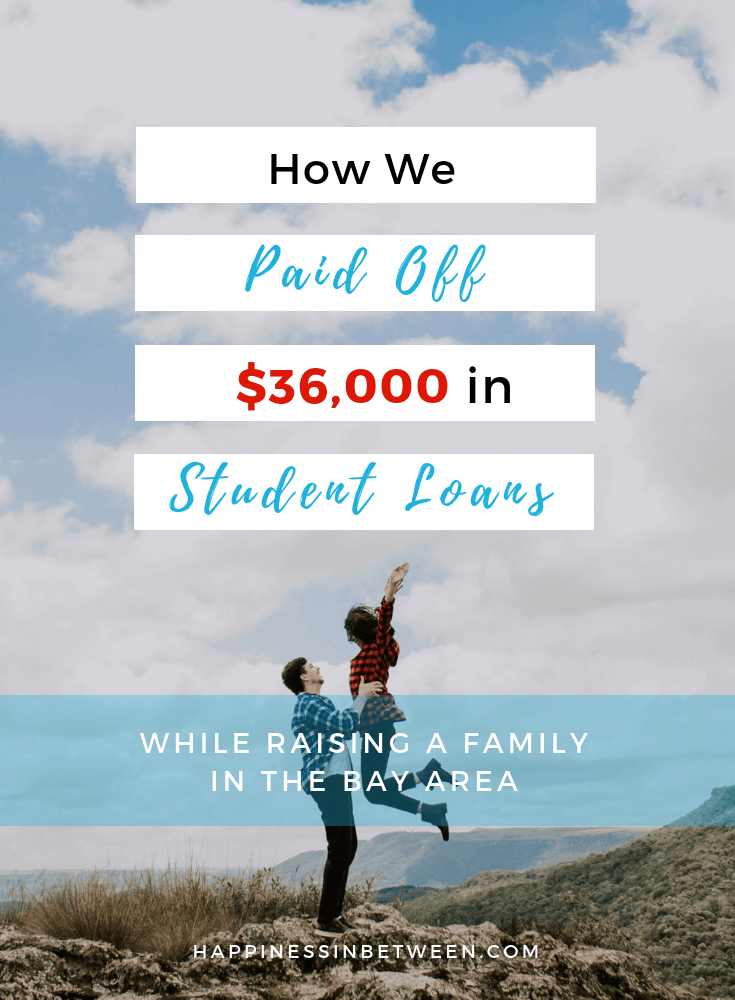 How We Paid Off $36k in Student Loans 2